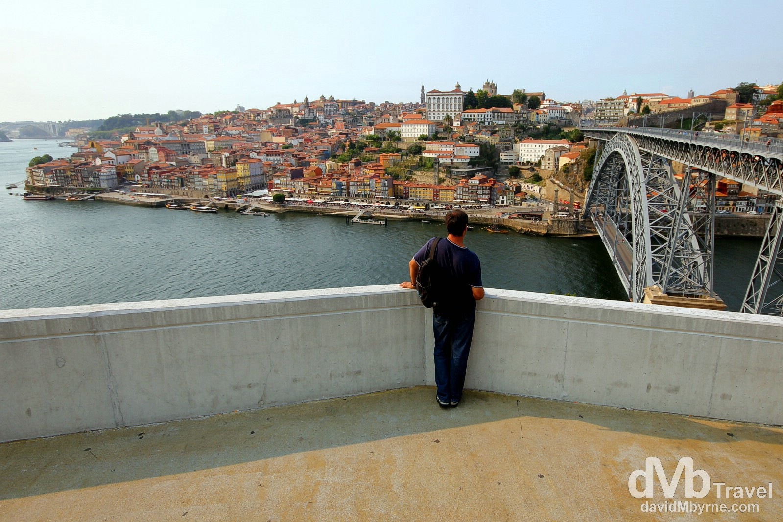 Viewing Porto & the Douro River from the Jardin do Morro, Porto, Portugal. August 28th 2013.