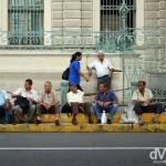 Sitting outside Palacio Nacional, San Salvador, El Salvador, Central America. June 3rd 2013.
