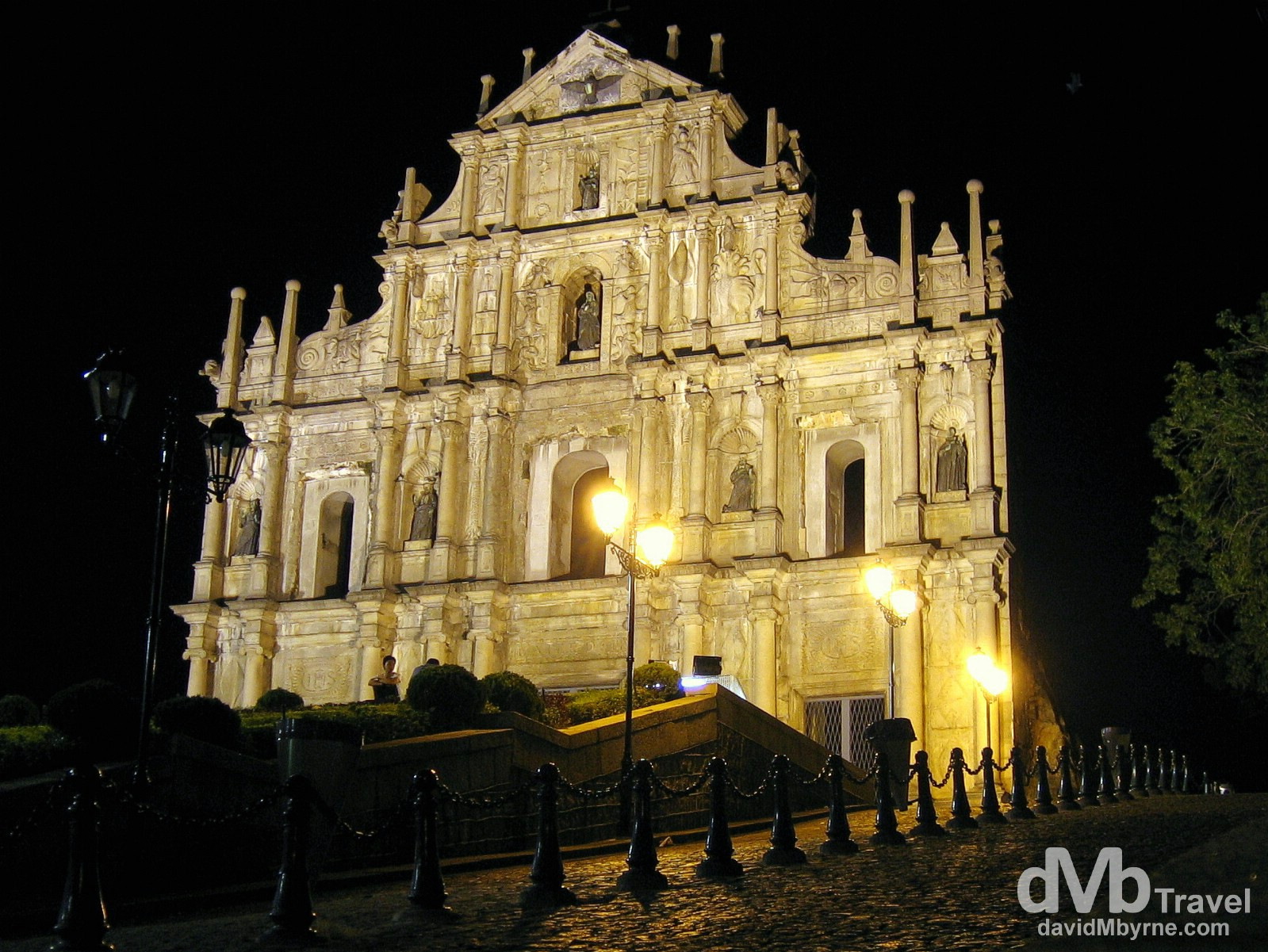 The façade of Ruins of Sao Paulo (St Paul's) in Macau, China. August 29th 2005.
