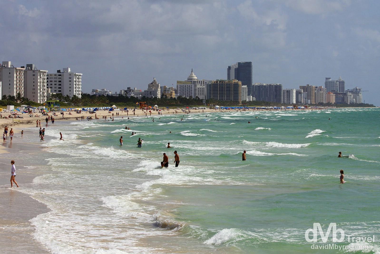 South Beach, Miami, Florida, USA. July 8th 2013.