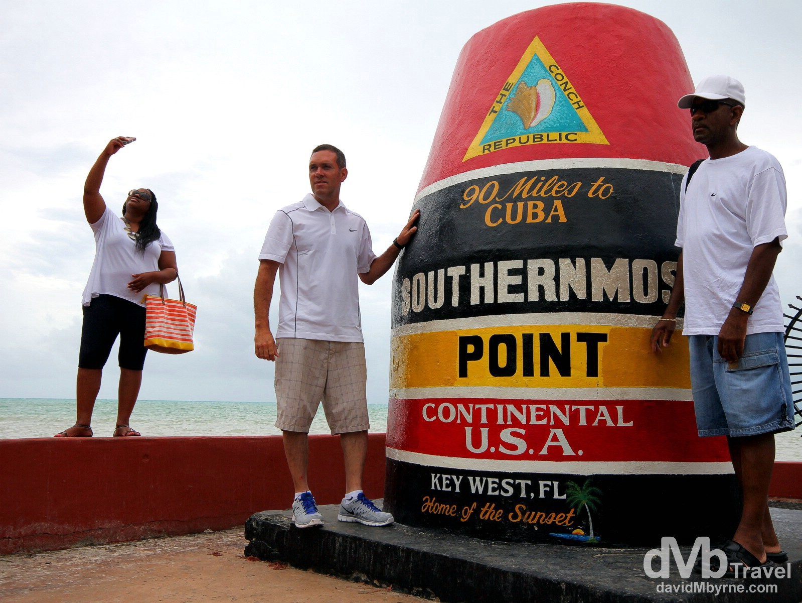 Posing at the Southernmost Point of Continental USA in Key West, Florida, USA. July 5th 2013.