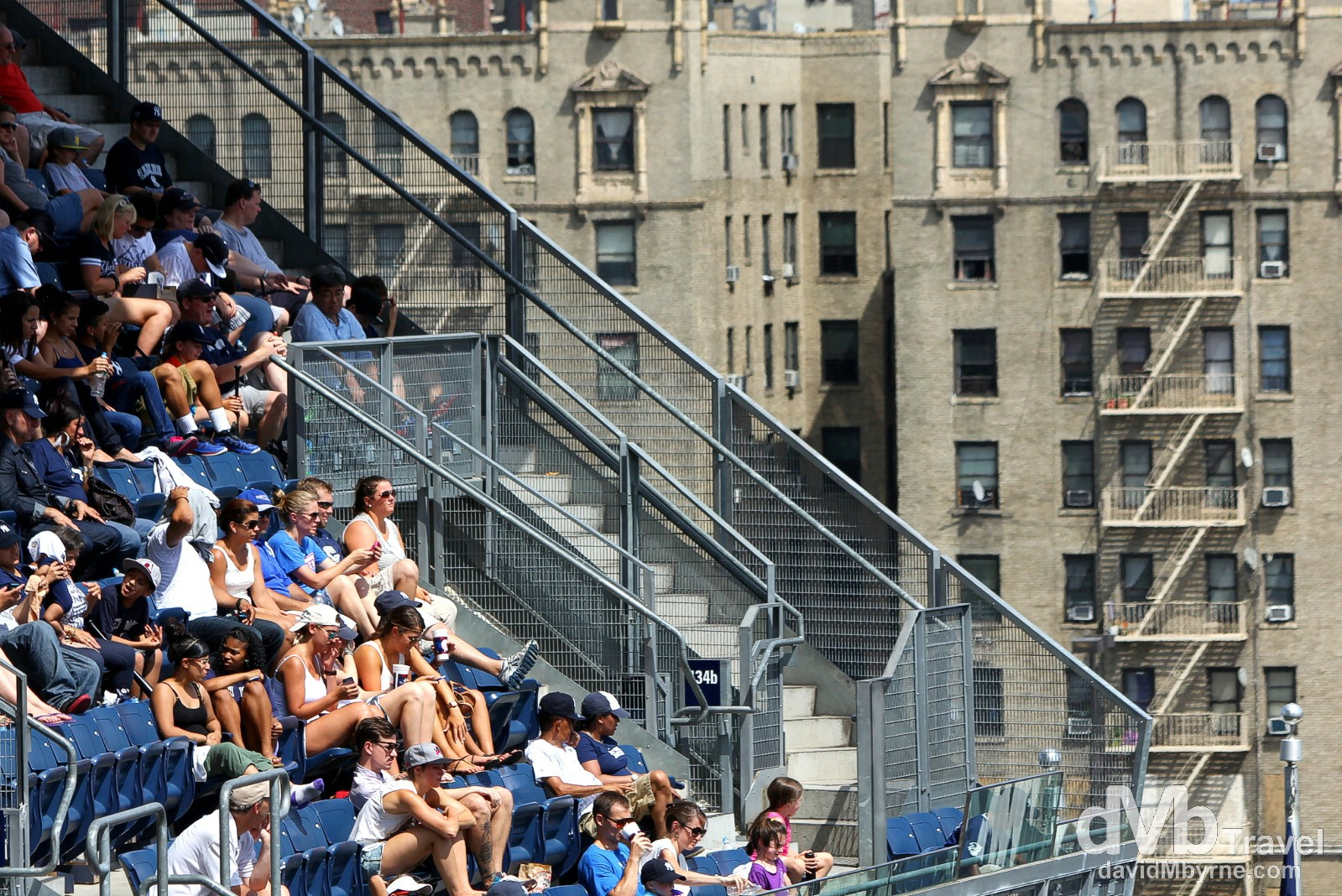 People in the stands at Yankee Stadium, The Bronx, New York. July 14th 2013.