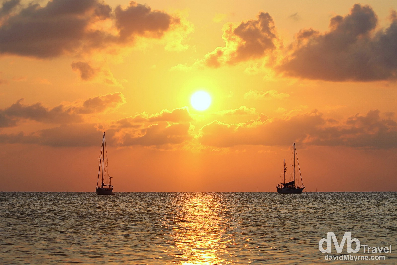 Sunset on Caye Caulker, Belize. May 15th 2013.
