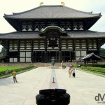 The Great Buddha Hall of the Todai-ji Buddhist temple complex in Nara, Honshu, Japan. July 20th 2005.