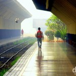 On the platform of Chiang Mai Railway Station, northern Thailand. March 9th 2012.