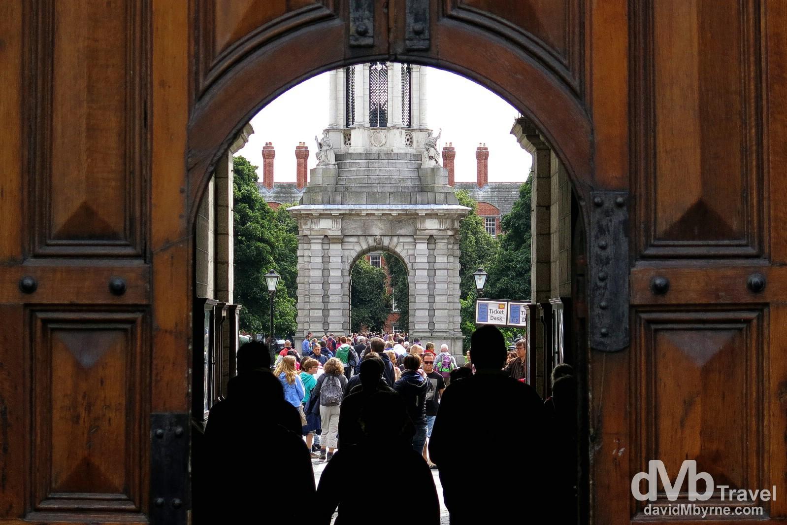 Trinity College, Dublin, Ireland. August 16th 2013.