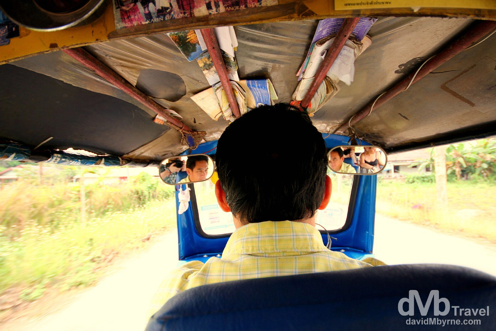 Tuk-tuk times en route from  Wat Rong Khun, aka The White Wat, to Chiang Rai, northern Thailand. March 11th 2012.