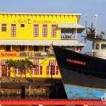 The Utila Express II moored in Utila dock, Utila, Bay Islands, Honduras. June 10th 2013.