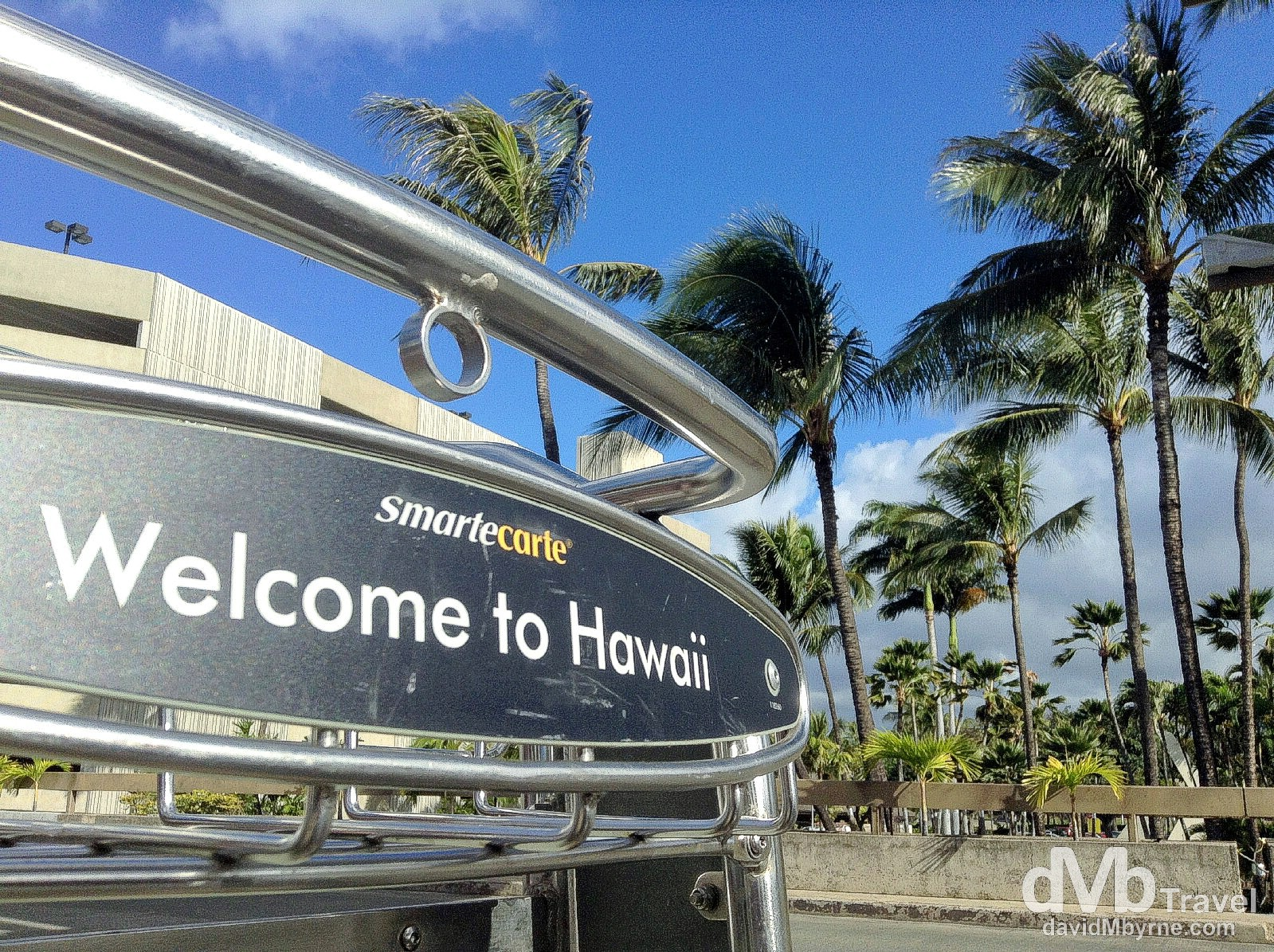 Welcome to Hawaii. It's good to be back. Waiting for the bus into Waikiki at Honolulu International Airport, Oahu, Hawaii. February 26th 2013 (iPod)