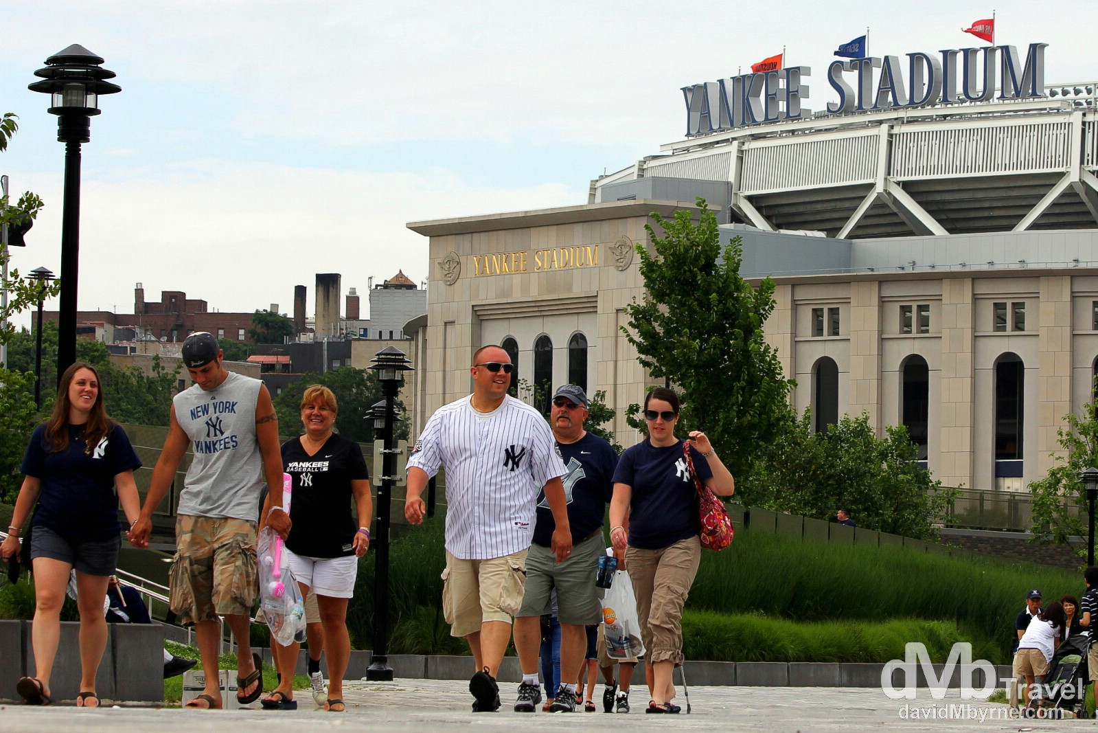 Yankee fans in Macombs Dam Park, The Bronx, New York, USA. July 13th 2013.