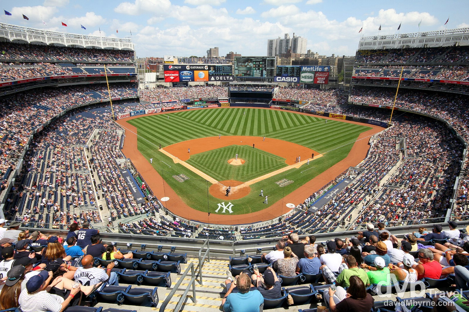 A sunny Sunday afternoon in Yankee Stadium, The Bronx, New York. July 14th 2013.