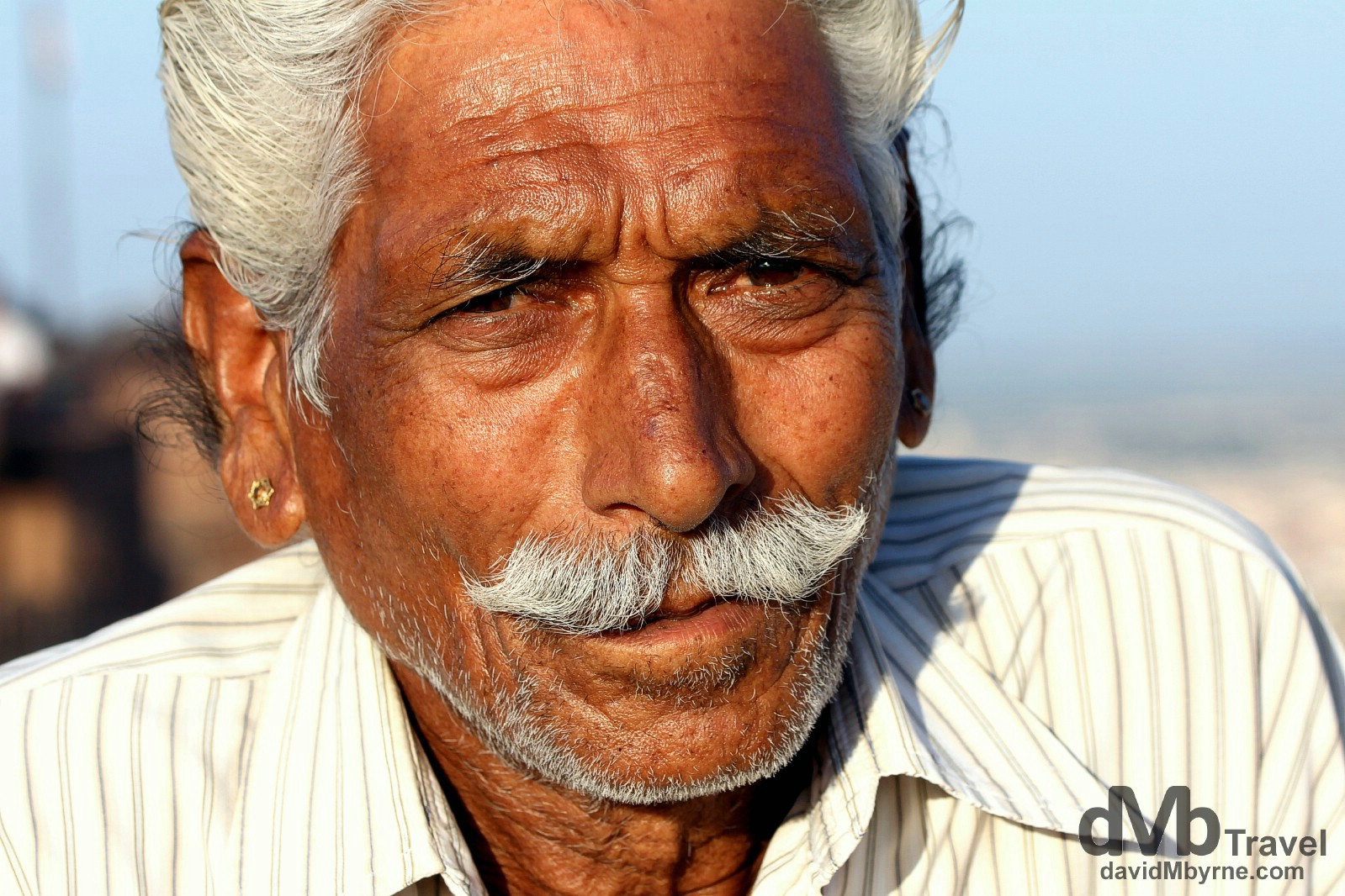 Anop, a friendly local, on the walls of Mehrangarh Fort, Jodhpur, Rajasthan, India. October 6th 2012.