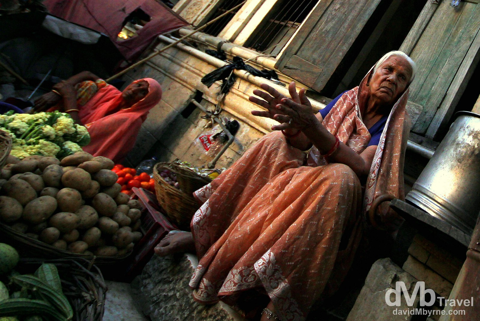 In a market on the streets of Pushkar, Rajasthan, India. October 3rd 2012.