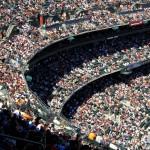 Crowds in AT&T Park, San Francisco, California, USA. April 10th 2013.