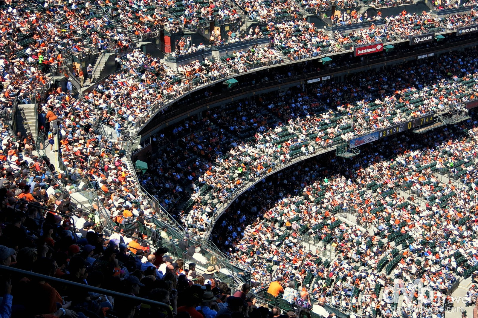 Crowds in AT&T Park, San Francisco, California, USA. April 10th 2013.