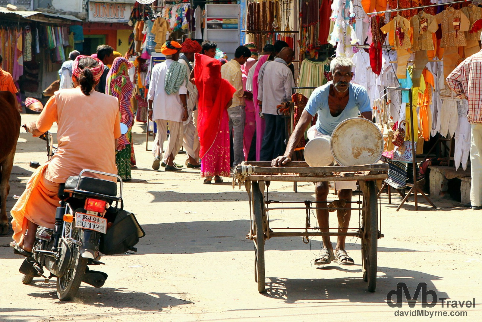 On the streets of Pushkar, Rajasthan, India. October 3rd 2012.