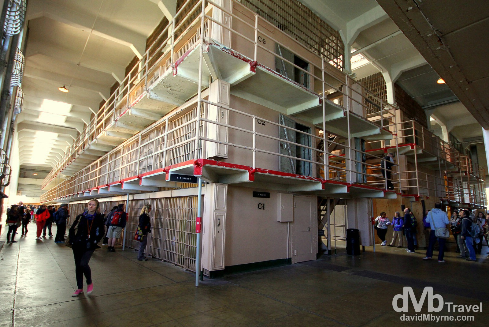 Cell blocks on Alcatraz Island, San Francisco Bay, California, USA. April 9th 2013.