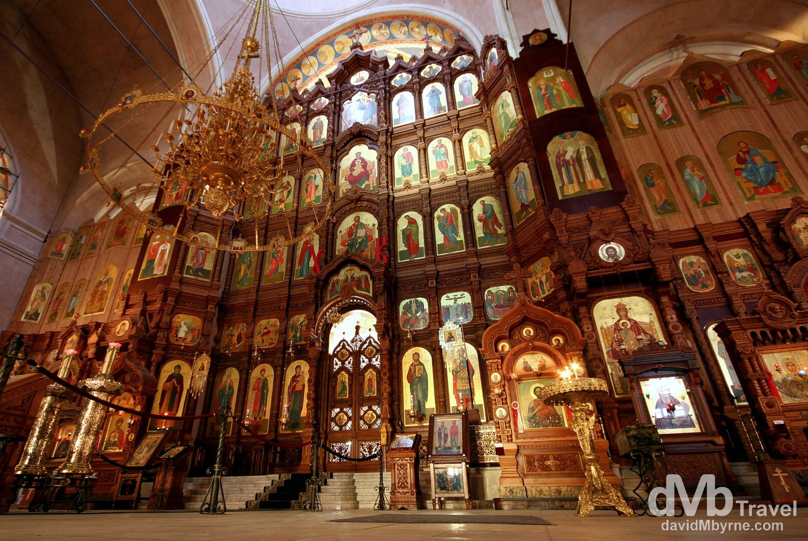 A section of the interior of the New Fair Cathedral (Alexander Nevsky Cathedral) Nizhny Novgorod, Russia. November 14th 2012.