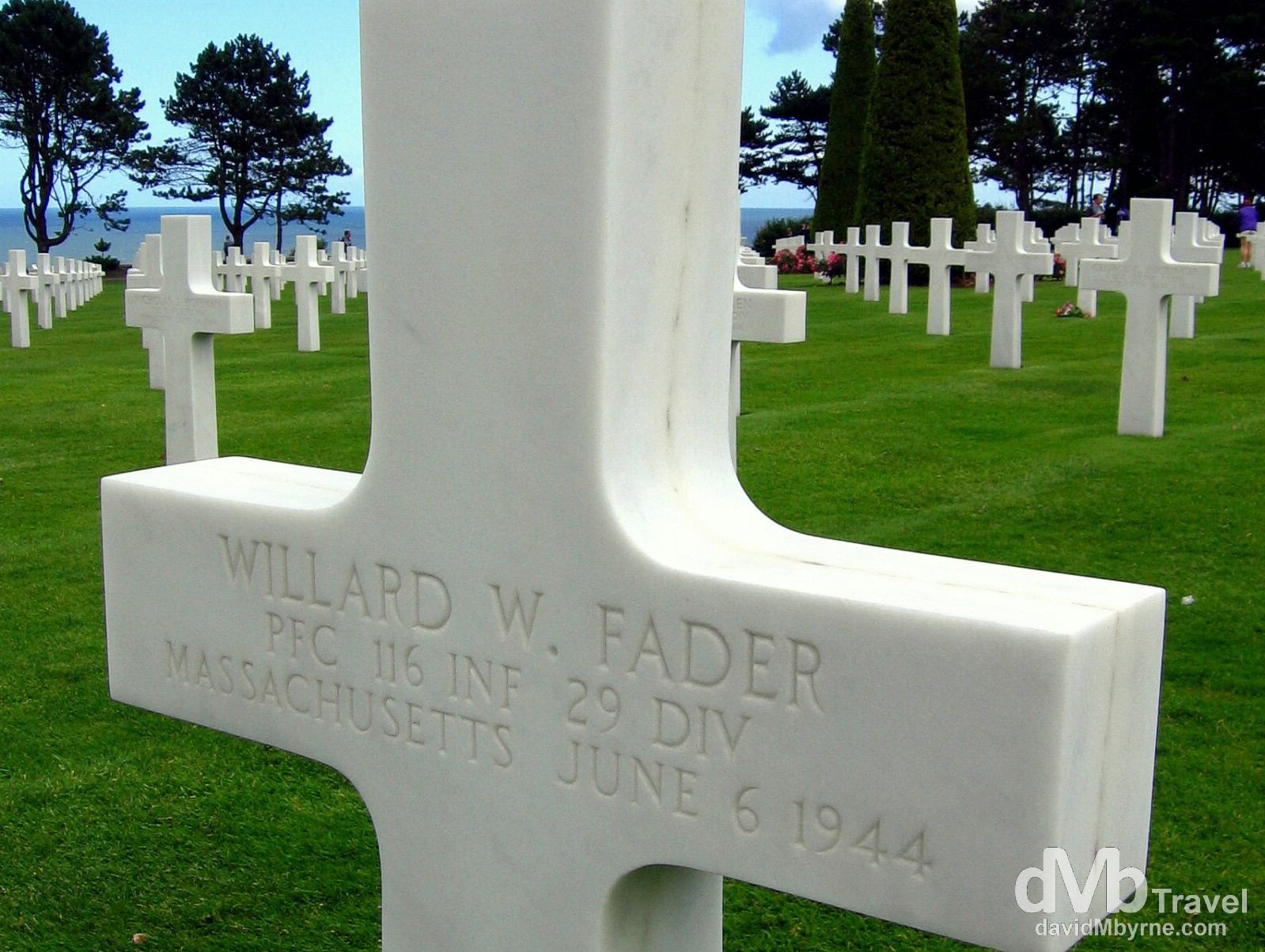 D-Day. June 6th 1944. The American War Cemetery at Colleville sur mer, Normandy, France. August 16th 2007.