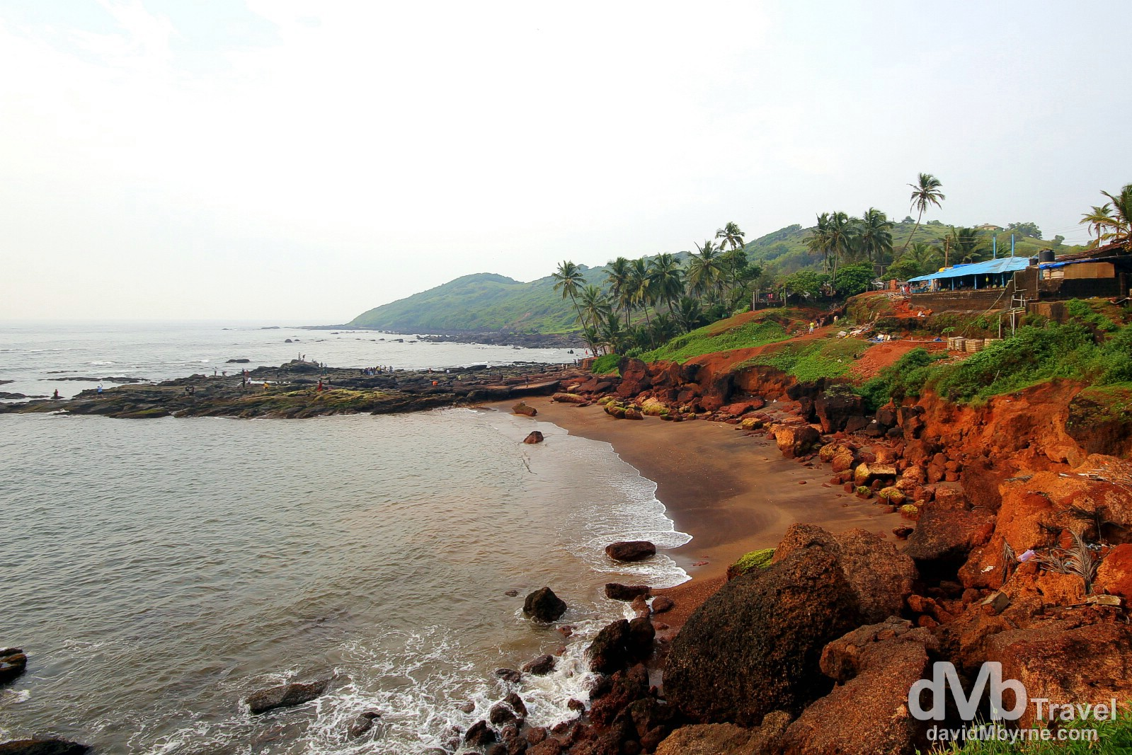 A section of coastline at Anjuna, Goa, India. September 29th 2012.