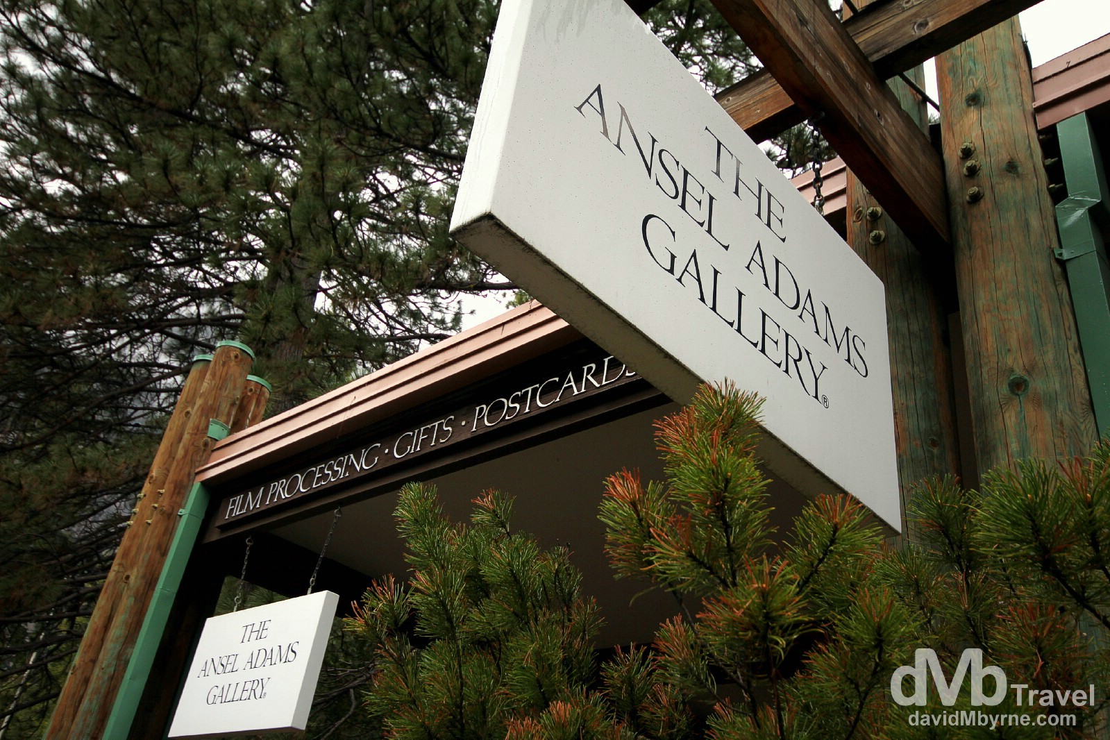 The Ansel Adams Gallery in Yosemite Valley, Yosemite National Park, California, USA. April 1st 2013.