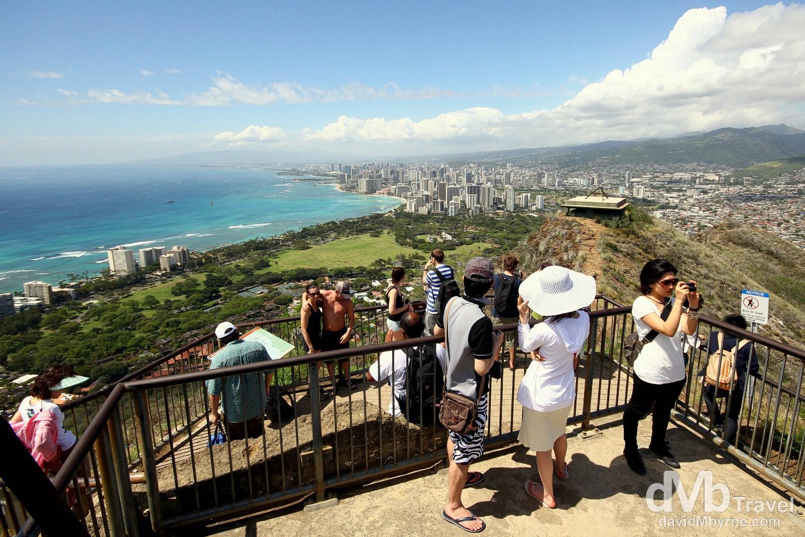 Atop Diamond Head, Oahu, Hawaii, USA. March 11th 2013.