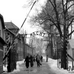 The main gate at Auschwitz I, The State Museum in Oswiecim (Auschwitz), Poland. March 7, 2006.