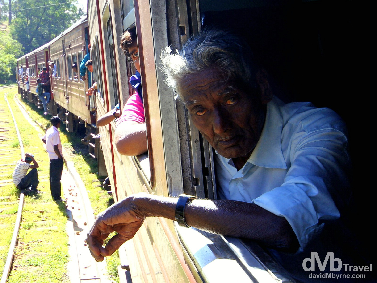 Waiting out a delay on the Badulla to Colombo train in central Sri Lanka. September 5th 2012.