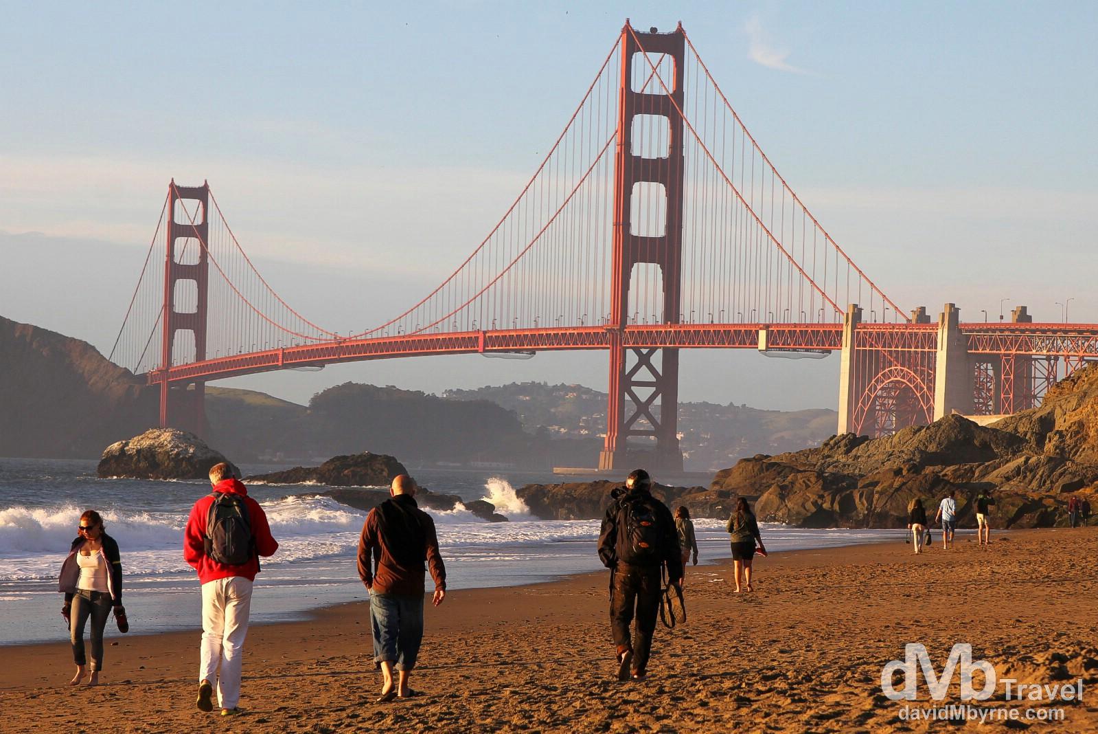 Baker Beach, San Francisco, California, USA. April 10th 2013.