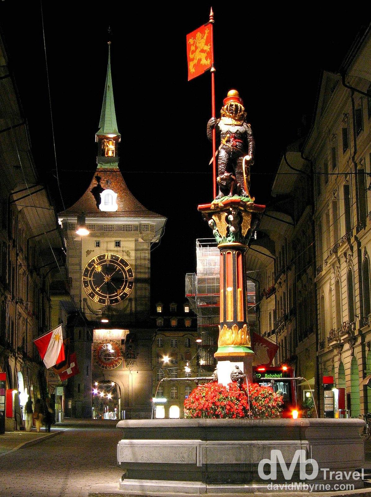 The Kramgasse, Old Town, Bern, Switzerland.