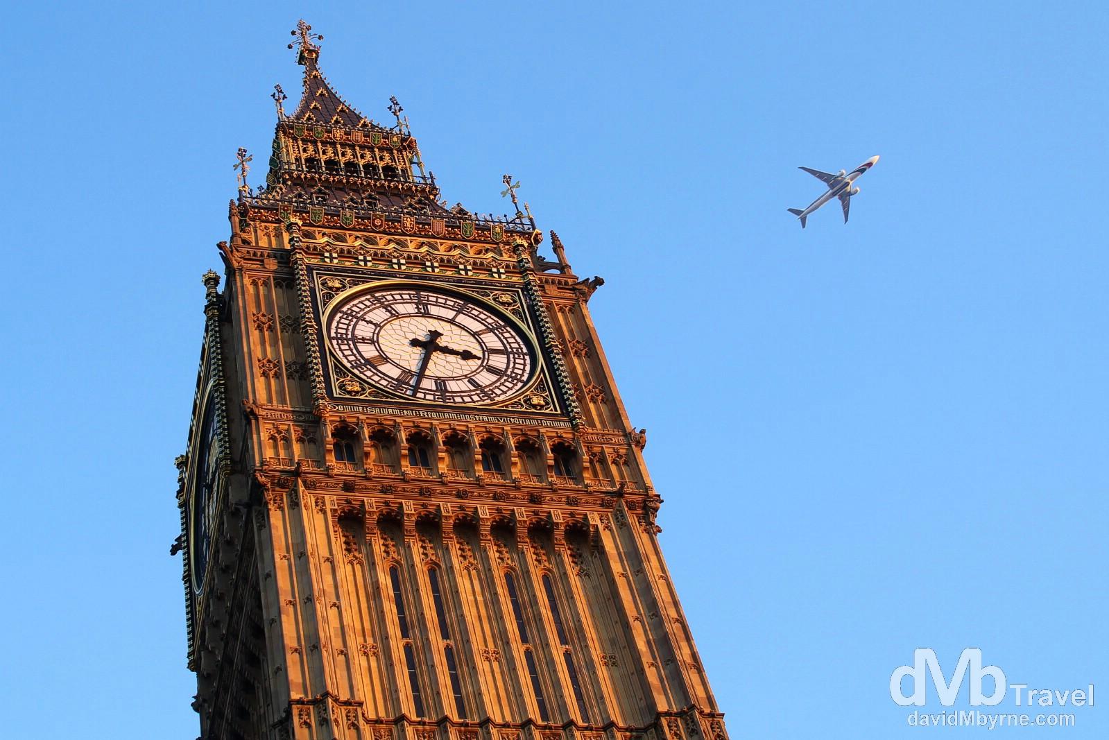 Big Ben, Westminster, London, England. December 8th 2012.