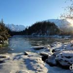 Bird Creek on the Seward Highway from Anchorage to Seward, Alaska, USA. March 12th 2013.