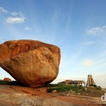 One of the boulders of Hampi, Karnataka, India. September 25th 2012.