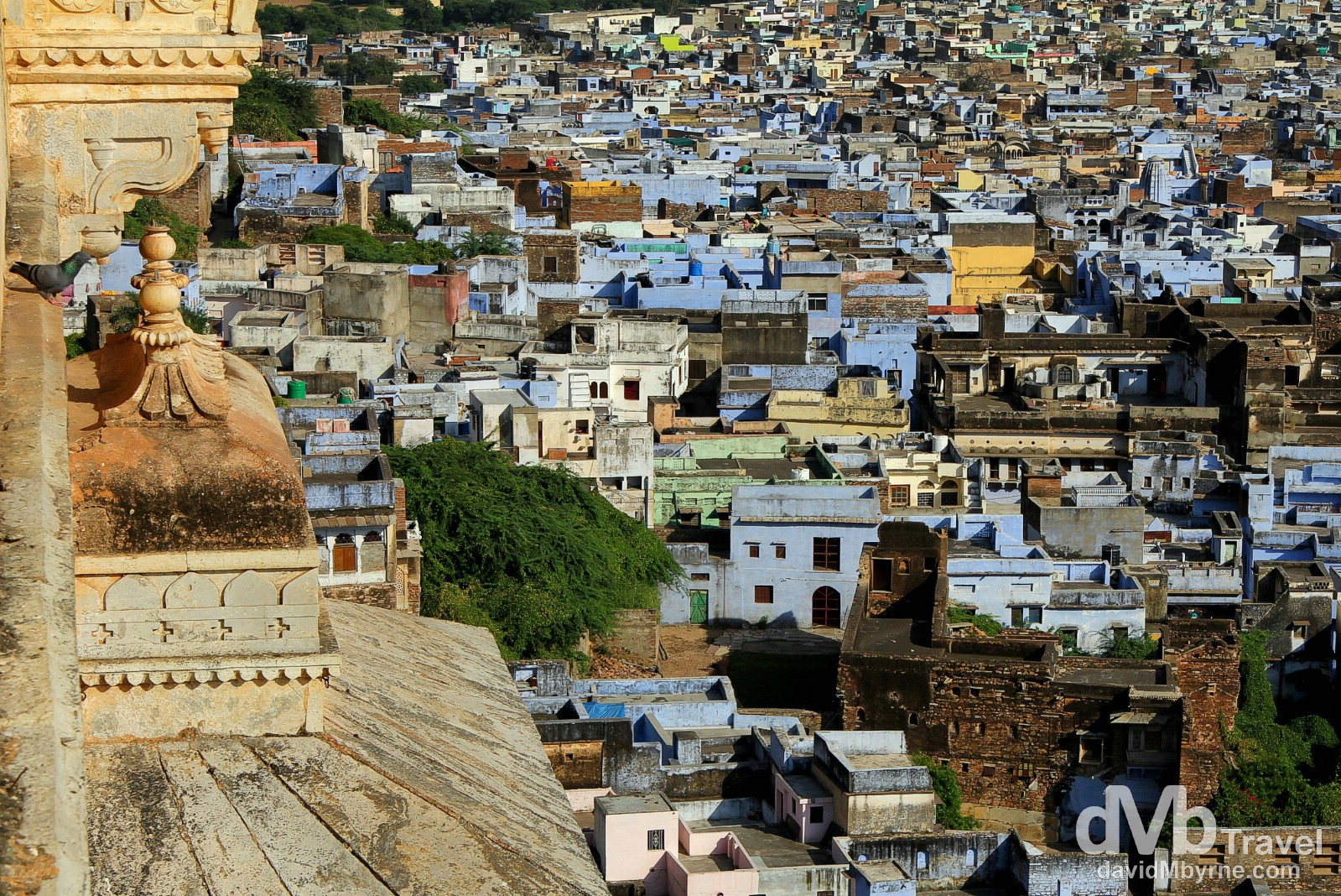 Bundi as seen from Bundi Palace, Rajasthan, India. October 1st 2012.