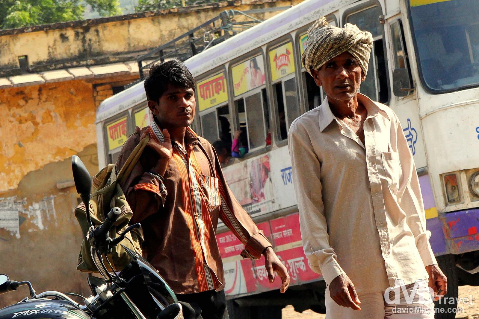 Bundi bus station, Rajasthan, India. October 2nd 2012.