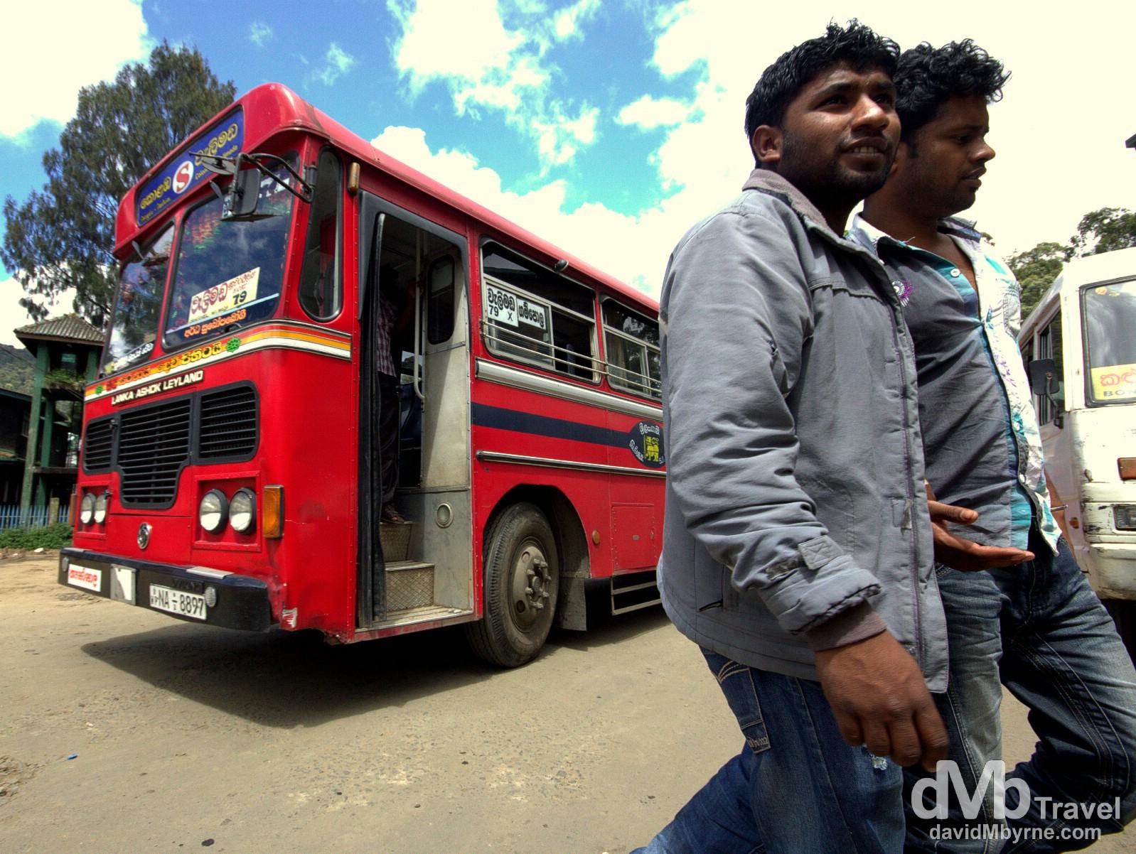 Nuwera Eliya bus station, Sri Lanka. September 6th 2012.
