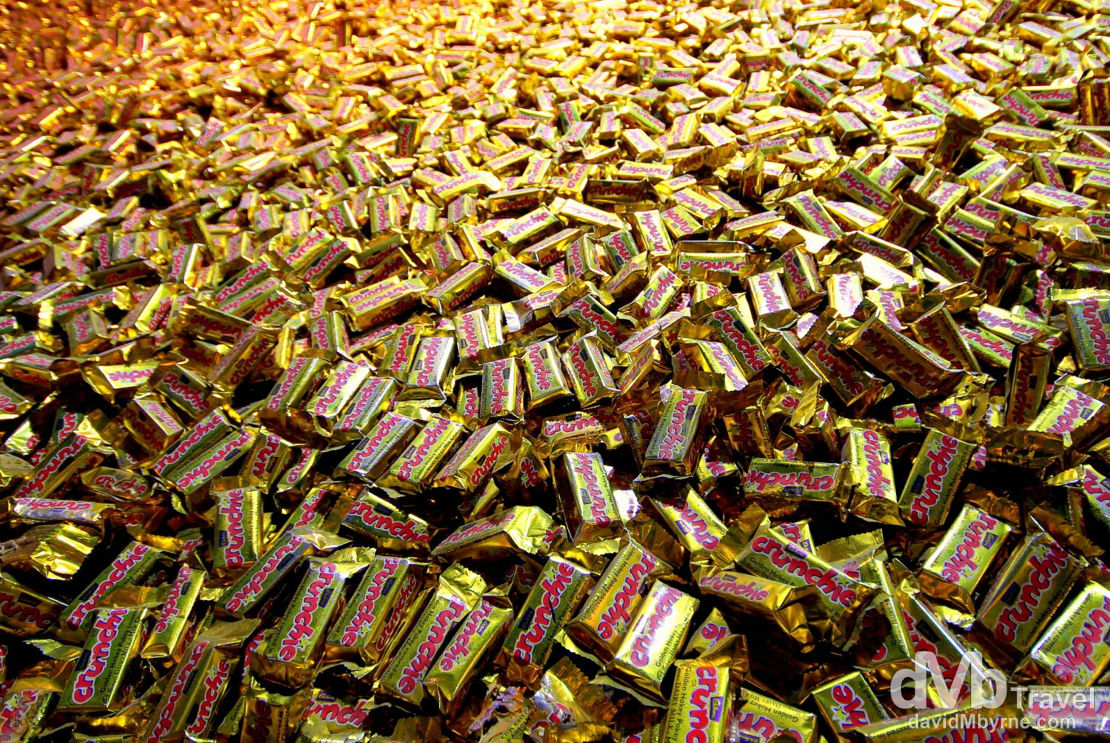 Thank Crunchie. A Crunchie mountain in Cadbury World, the sweetest attraction in Dunedin, South Island, New Zealand. May 29th 2012.