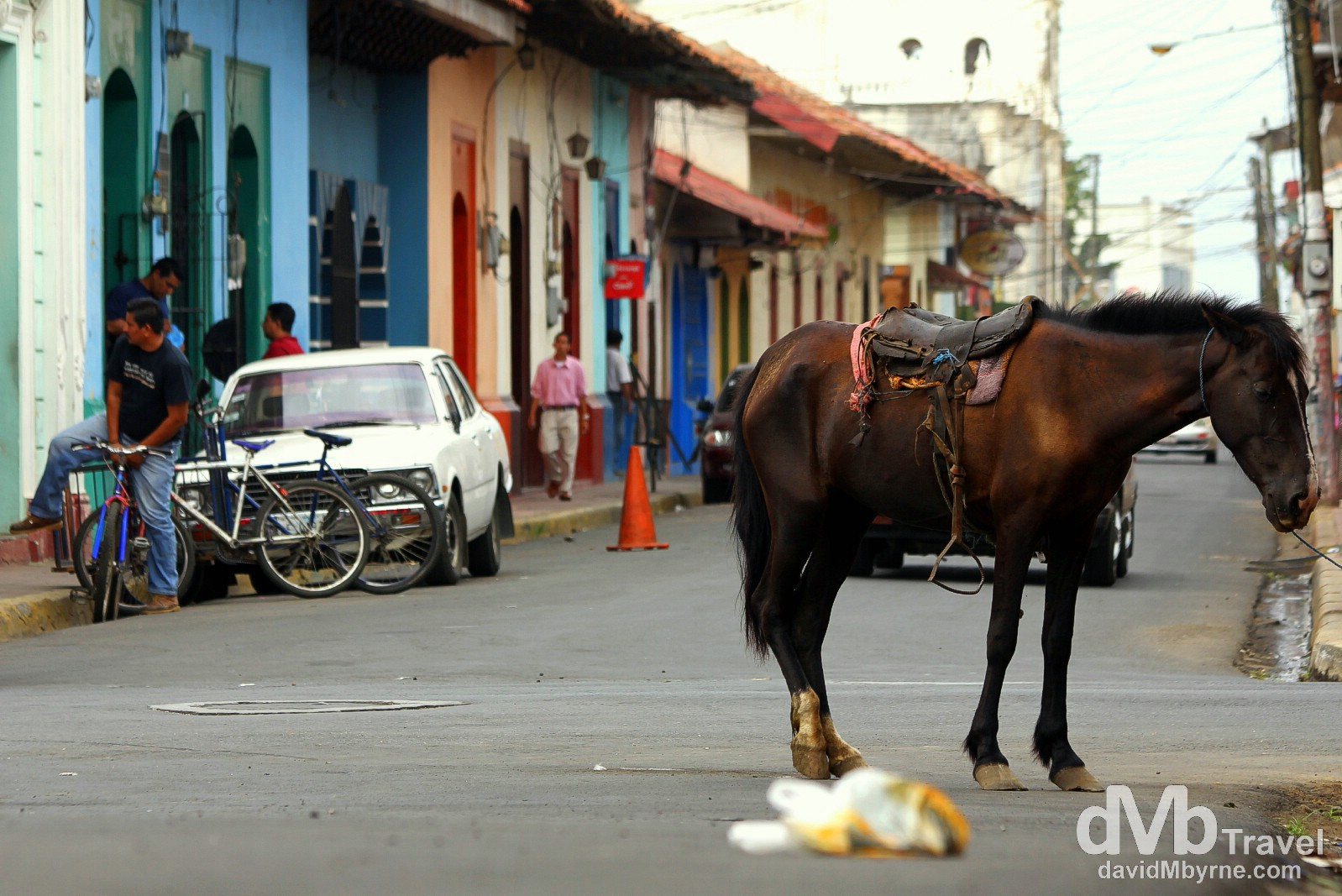 Calle Central Ruben Dario, Leon, Nicaragua. June 15th 2013.