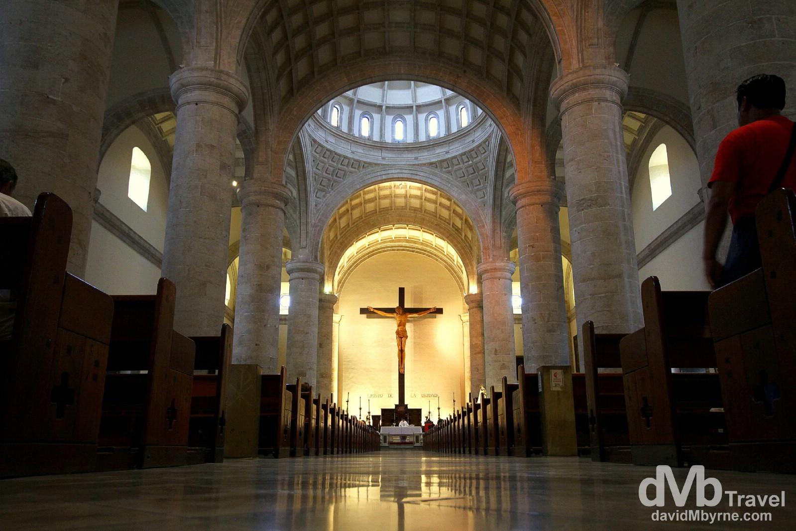 The interior of Catedral de San Ildefonso, Merida, Yucatan, Mexico. April 30th 2013.