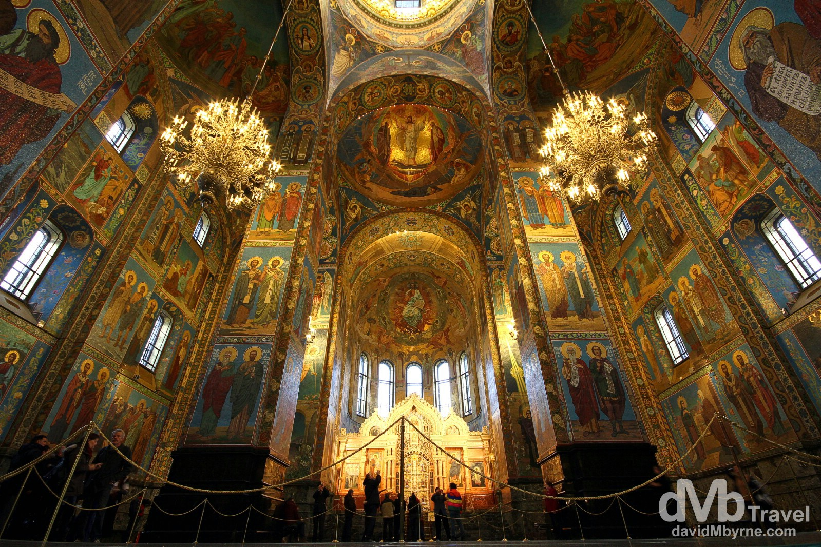 The impressive interior of the Cathedral of the Resurrection of Christ, aka the Church on Spilled Blood, in St Petersburg, Russia. November 23rd 2012.
