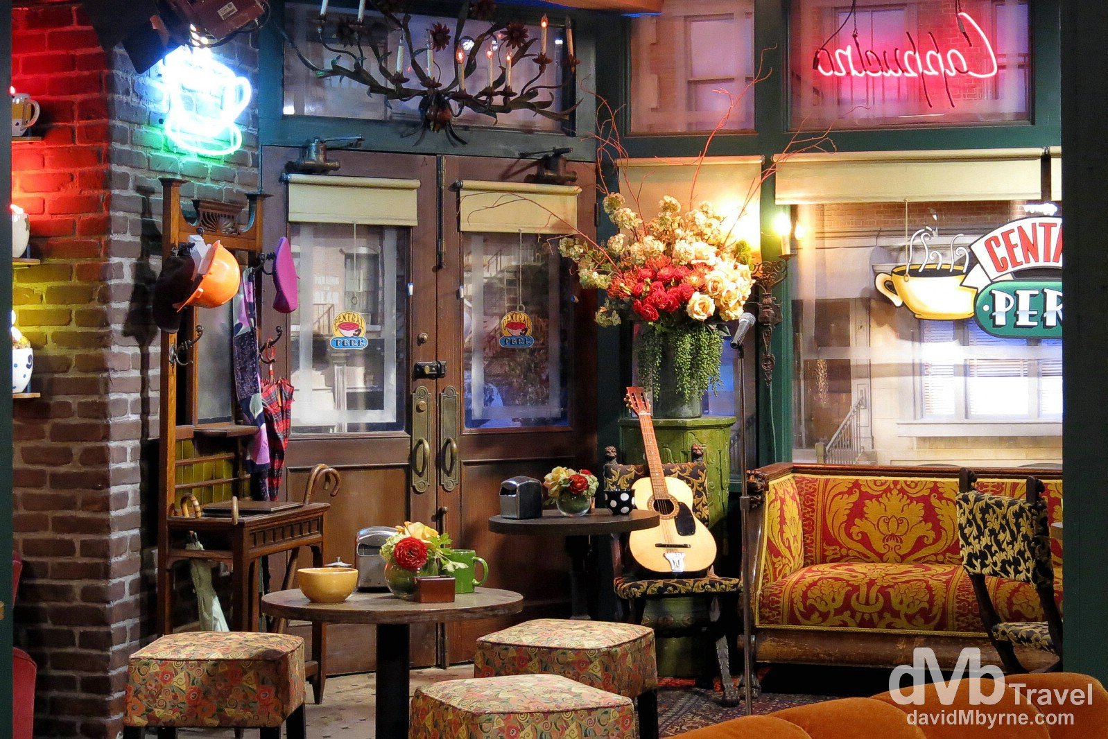 Central Perk, the coffee house from Friends, in Warner Brothers Studios. Burbank, Los Angles, California, USA. April 13th 2013.