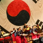 A traditional music performance in the National Youth Center of Korea, Cheonan, South Korea. February 9, 2010.