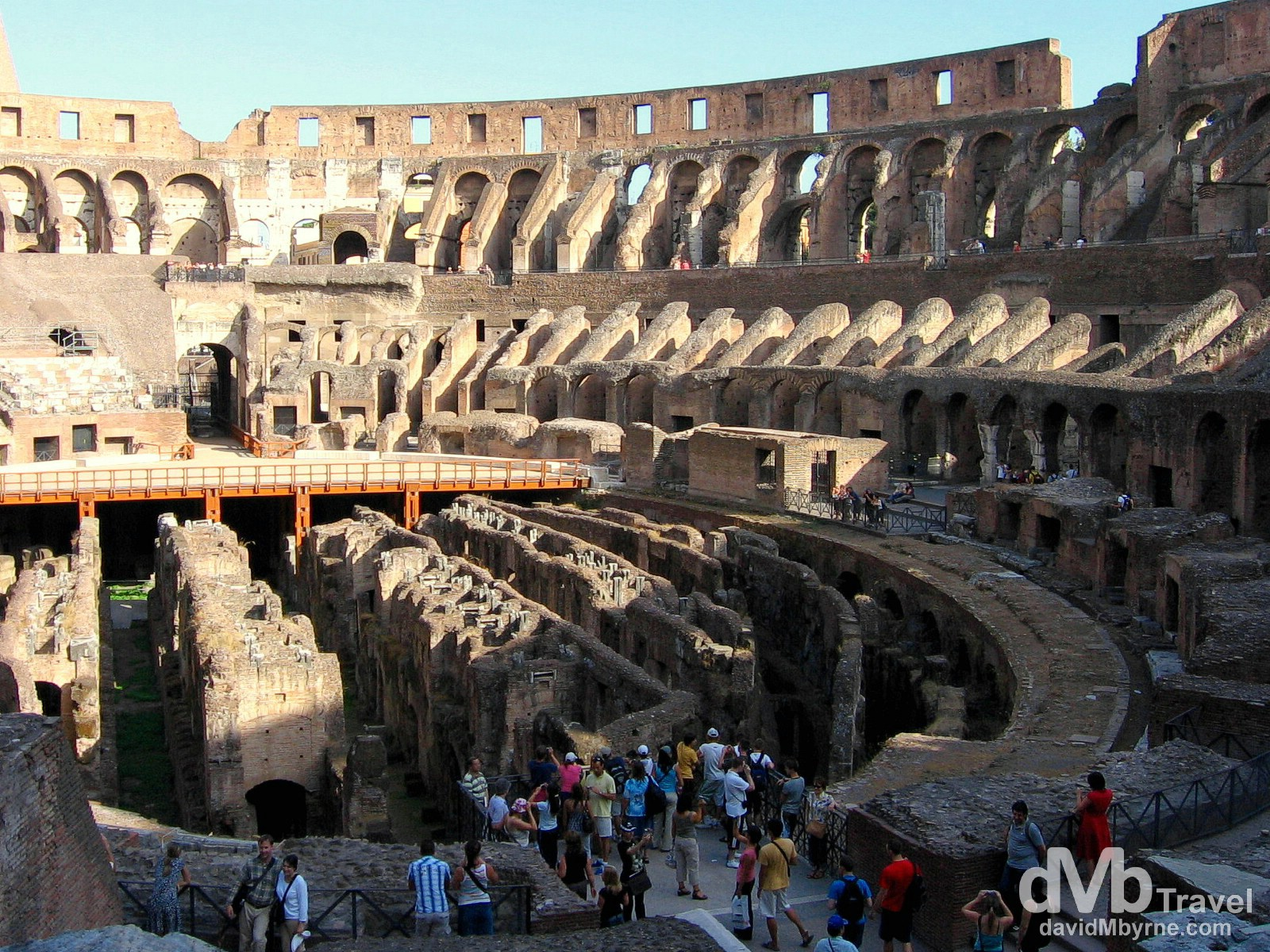 The inside of the Colosseum, Rome. September 2nd 2007.
