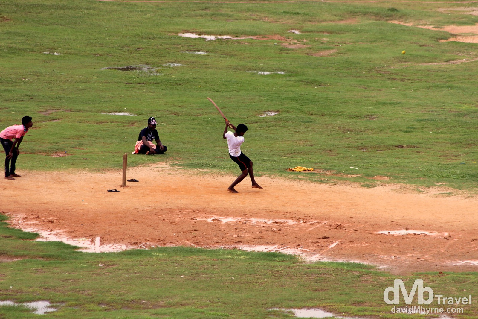 An impromptu game of cricket as seen from the walls of Galle Fort, Galle, southern Sri Lanka. September 2nd 2012.