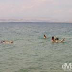 Floating in the Dead Sea, Jordan, the lowest point on earth. April 29th 2008.