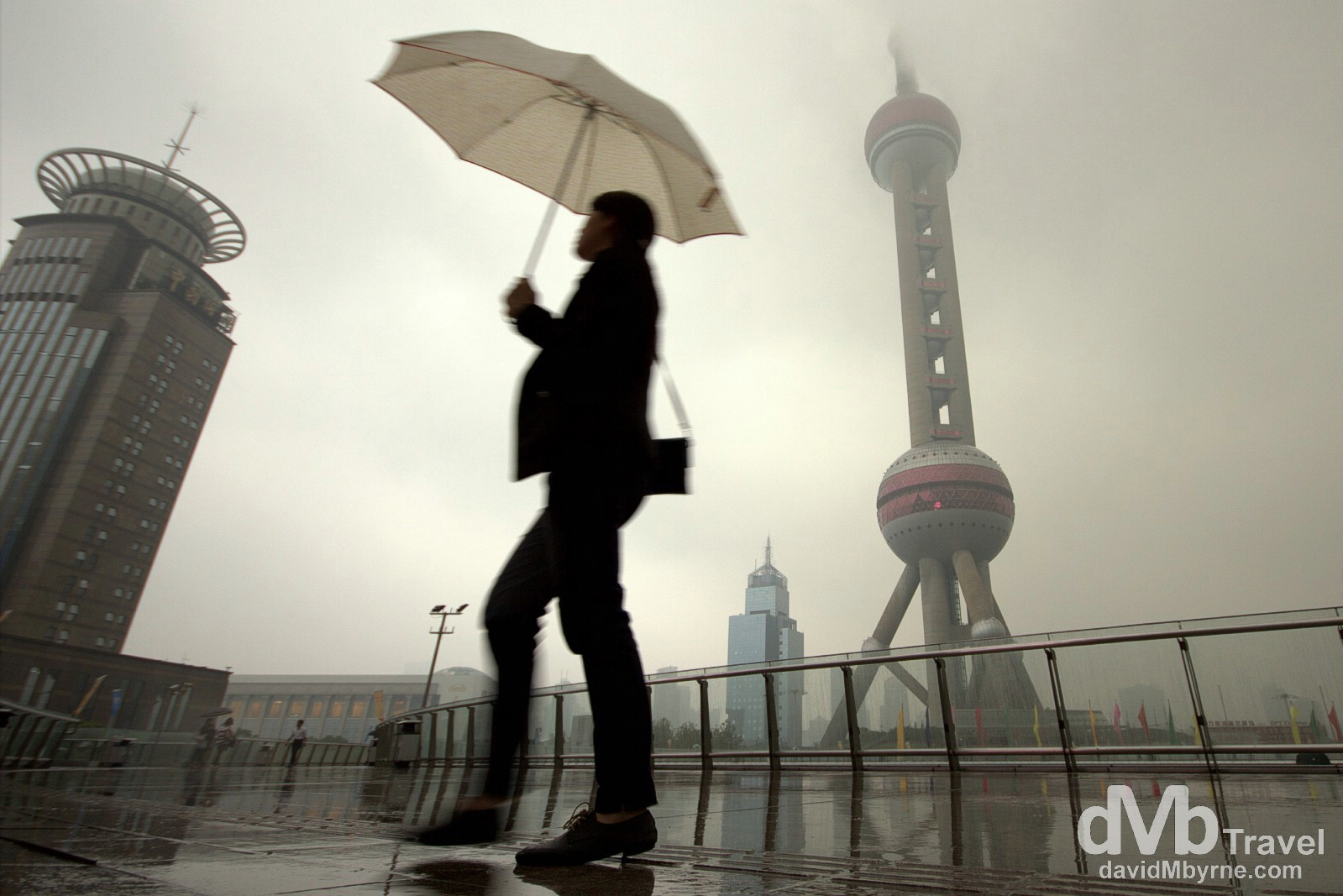 A dreary day in the Pudong area of Shanghai, China. October 22nd 2012.
