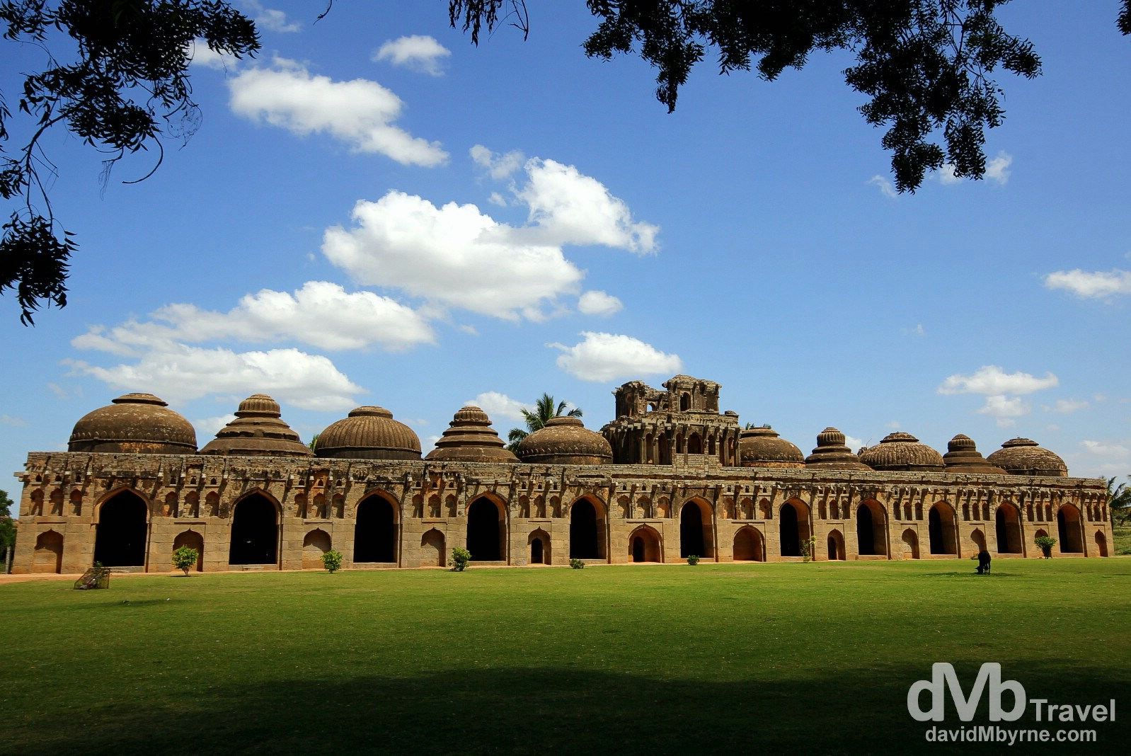 Elephant Stables of The Royal Centre, Hampi, Karnataka, India. September 24th 2012.