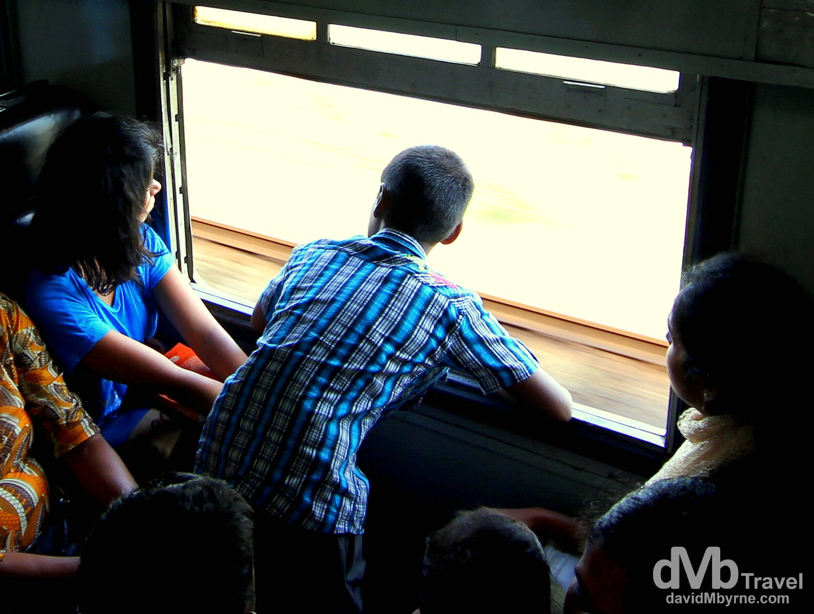 Standing room only on the Colombo to Galle train, Sri Lanka. August 31st 2012.