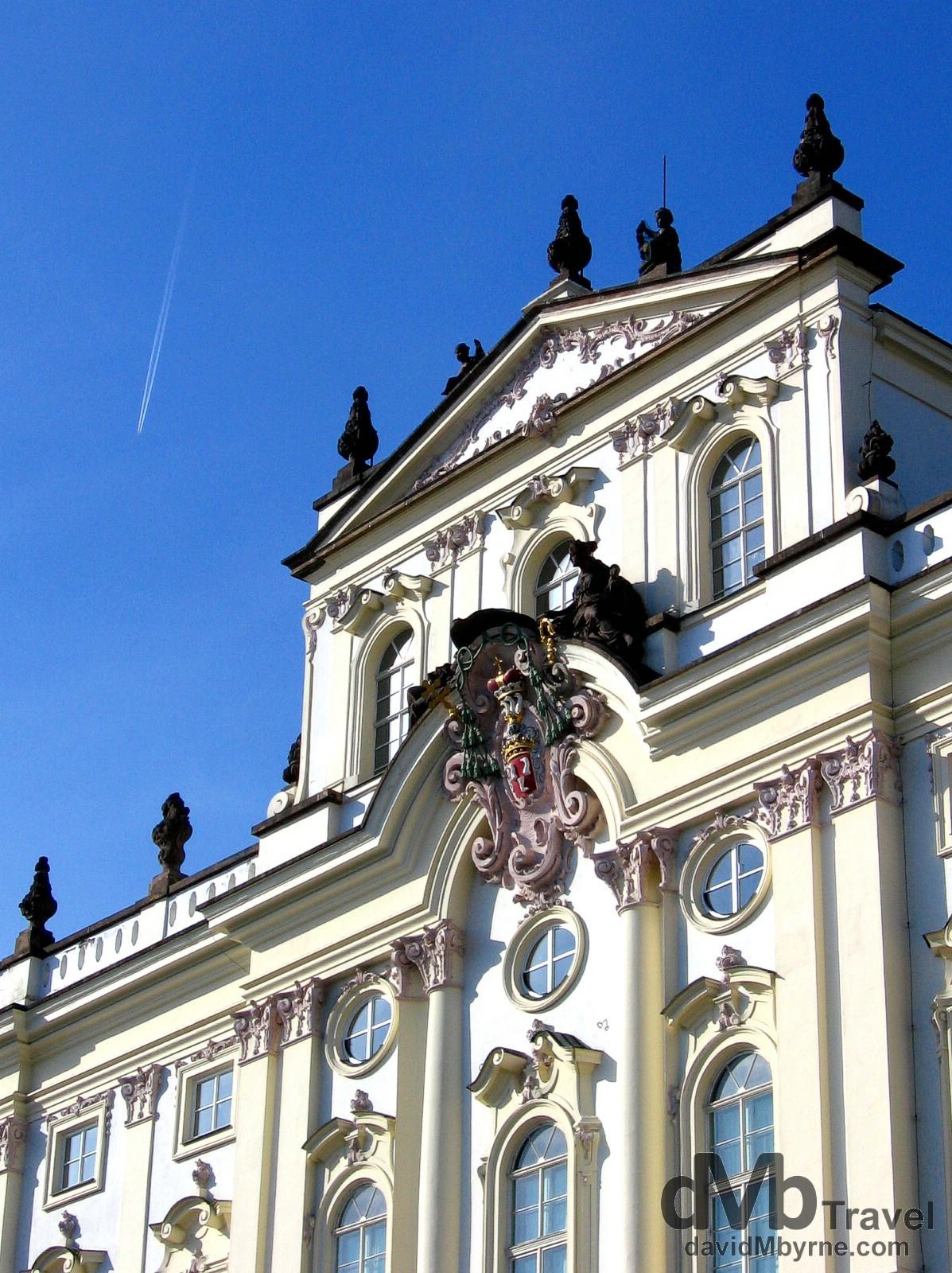 The façade of Prague Castle. Prague Castle, Prague Czech Republic. March 8th 2006.