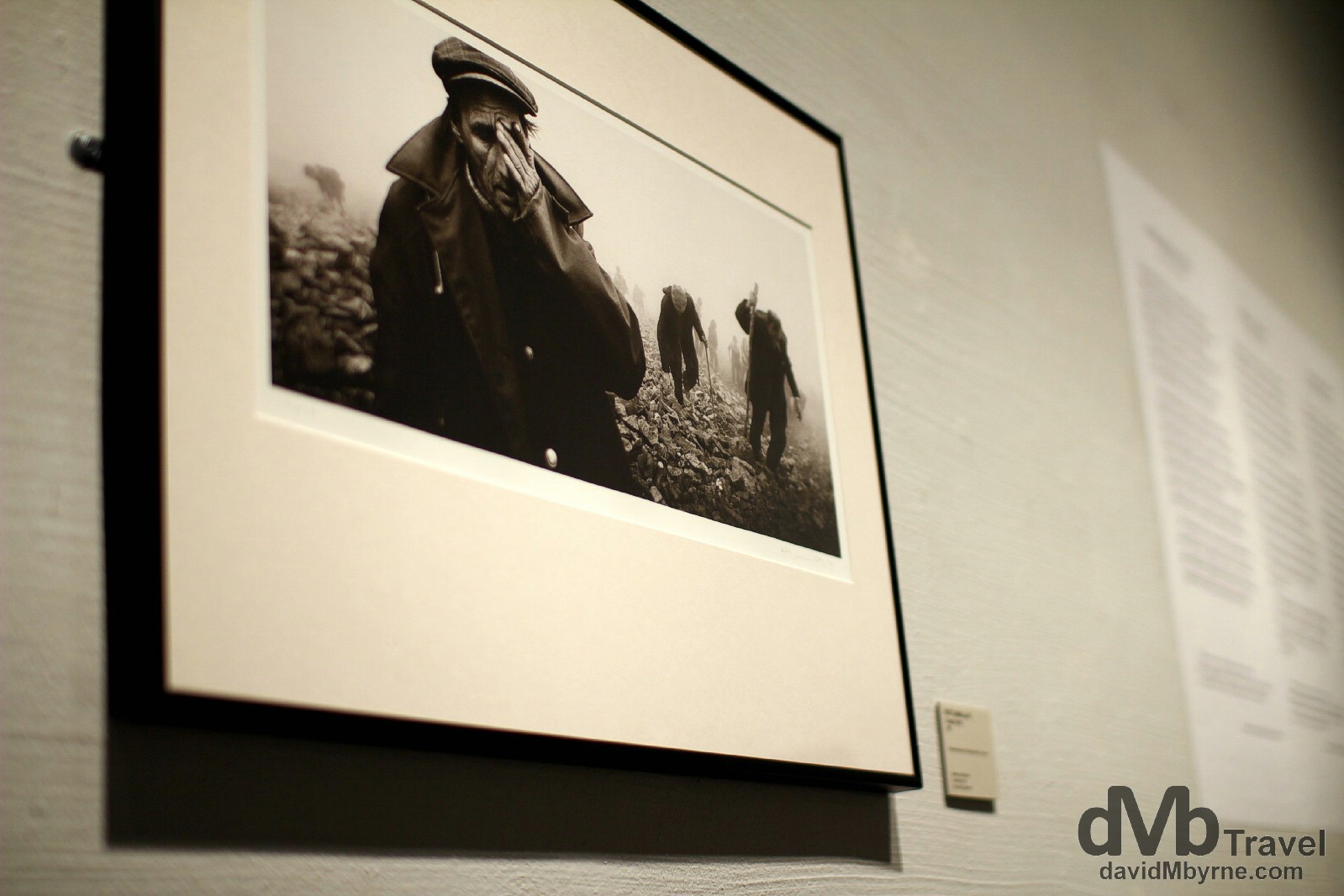 A photo hanging in the Finnish Photography Museum, Helsinki, Finland. November 24th 2012.